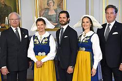 June 6, 2017 - Stockholm, Sweden - King Carl XVI Gustaf, queen Silvia, prince Carl Philip, princess Sofia, Christopher O'Neill..National Day reception, Royal Palace, Stockholm, 2017-06-06..(c) Karin Törnblom / IBL....Nationaldagsmottagning, Kungliga slottet, Stockholm, 2017-06-06 (Credit Image: © Karin TöRnblom/IBL via ZUMA Press)