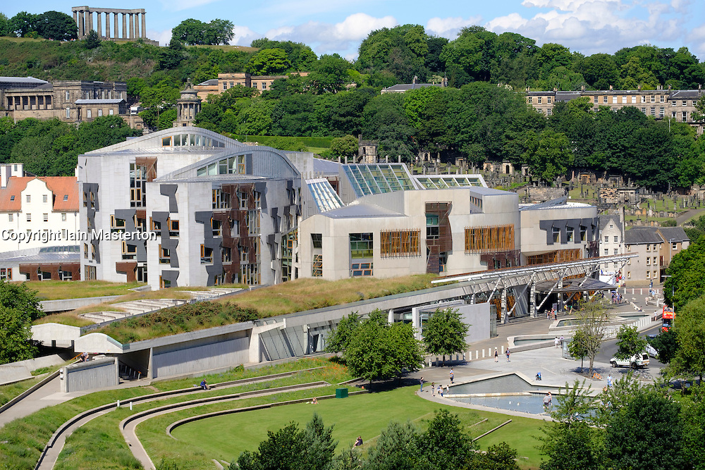View of the  Scottish Parliament building in Edinburgh Scotland , United Kingdom