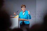 30 NOV 2018, BERLIN/GERMANY:<br /> Annegret Kramp-Karrenbauer, CDU Generalsekretaerin, haelt eine Rede, waehrend der Regionalkonferenz der CDU zur Vorstellung der Kandidaten fuer das Amt des Bundesvorsitzenden der CDU, Estrell Convention Center<br /> IMAGE: 20181130-01-025