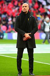 PEP GUARDIOLA MANAGER Manchester City, Arsenal v Manchester City Carabao League Cup Final, Wembley Stadium, Sunday 25th February 2018, Score Arsenal 0- Man City 3.