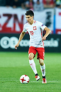 Lublin, Poland - 2017 June 16: Bartosz Kapustka from Poland U21 controls the ball while Poland v Slovakia match during 2017 UEFA European Under-21 Championship at Lublin Arena on June 16, 2017 in Lublin, Poland.<br /> <br /> Mandatory credit:<br /> Photo by © Adam Nurkiewicz / Mediasport<br /> <br /> Adam Nurkiewicz declares that he has no rights to the image of people at the photographs of his authorship.<br /> <br /> Picture also available in RAW (NEF) or TIFF format on special request.<br /> <br /> Any editorial, commercial or promotional use requires written permission from the author of image.