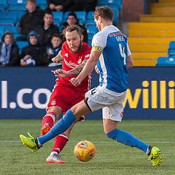 #83 Stevie May (Aberdeen) fires in for 1-3 - Kilmarnock v Aberdeen - Ladbrokes Premiership - 26 November 2017 - © Russel Hutcheson | SportPix.org.uk