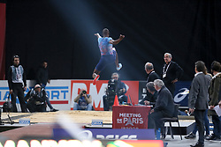 February 7, 2018 - Paris, Ile-de-France, France - Luvo Manyonga of  South Africa competes in 60m Hurdles during the Athletics Indoor Meeting of Paris 2018, at AccorHotels Arena (Bercy) in Paris, France on February 7, 2018. (Credit Image: © Michel Stoupak/NurPhoto via ZUMA Press)