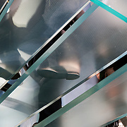 Glass staircase, Apple Computer Store, Fifth Avenue, Manhattan, New York, NY
