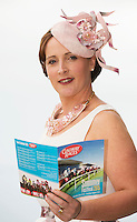 At the launch of The Galway Races summer festival 2015 were Milliner Caitriona King . The launch was held at the Radisson blu Galway  .Photo:Andrew Downes:XPOSURE