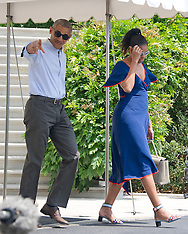 Washington: First Family Departs For Martha's Vineyard, 6 August 2016