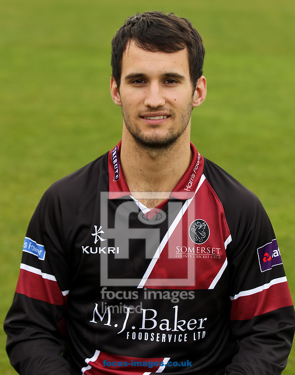 Lewis Gregory pictured during Somerset County Cricket Club media day at the County Ground, Taunton, Taunton<br /> Picture by Tom Smith/Focus Images Ltd 07545141164<br /> 31/03/2014