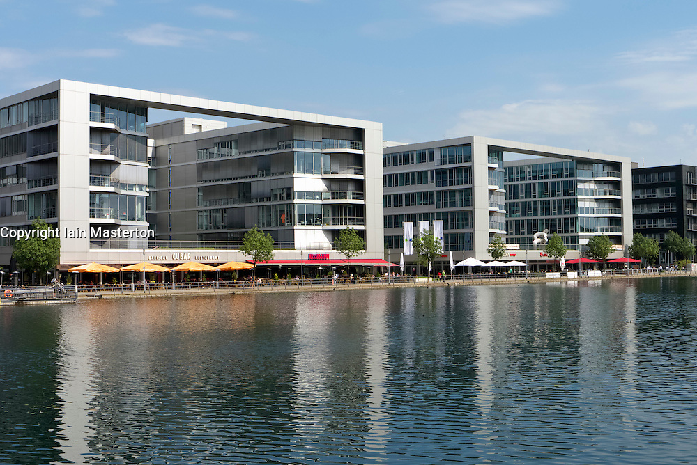 Modern office buildings at Innenhafen area of Duisburg in North Rhine-Westphalia Germany