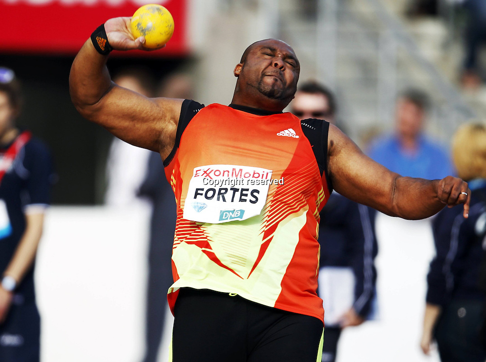 07.06.2012. Paris, France.   Diamond League Bislett Games Marco Fortes POR mens Shot Putt  Athletics Oslo