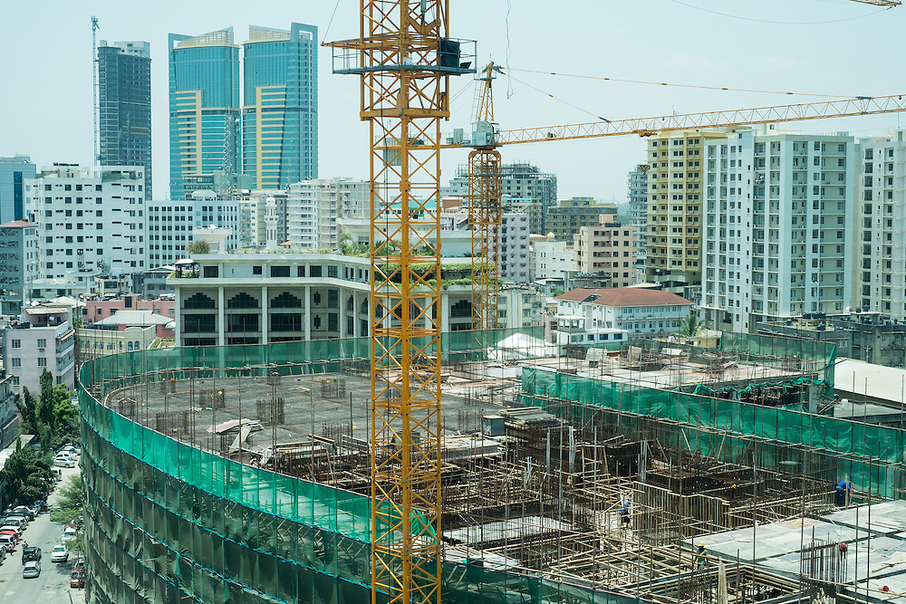 Dar es Salaam, Tanzania -   2015-03-06  - Construction in Dar es Salaam, Tanzania on March 6, 2015.  Photo by Daniel Hayduk