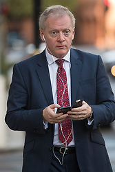 © Licensed to London News Pictures. 19/10/2019. London, UK. PHILLIP LEE MP is seen in Westminster, London on the day that Parliament will vote on a new agreement between UK government and the EU over Brexit. Parliament is sitting on a Saturday for the first time since 1982. Photo credit: Ben Cawthra/LNP