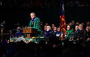 Ohio University President M. Duane Nellis speaks at graduate commencement. Photo by Ben Siegel