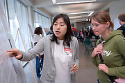 18890Student Research and Creative Activity Expo..Shu Zhou(right) & Monique Richter...RNA Structure