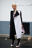 Black and White Coat, Outside Dior Couture SS2015