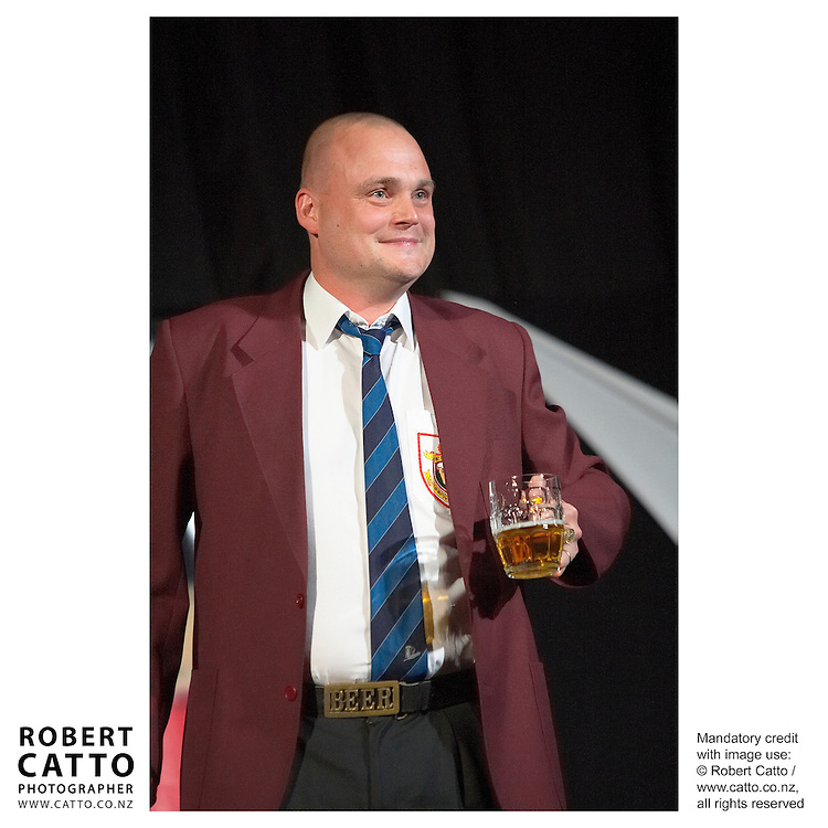 Al Murray / The Pub Landlord at the British &amp; Irish Lions v. Auckland Blues Match at Eden Park, Auckland, New Zealand.<br />