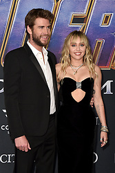 Liam Hemsworth and Miley Cyrus attend the world premiere of Walt Disney Studios Motion Pictures 'Avengers: Endgame' at the Los Angeles Convention Center on April 22, 2019 in Los Angeles, CA, USA. Photo by Lionel Hahn/ABACAPRESS.COM