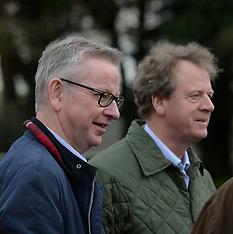 Michael Gove down on the farm, Newton Stewart, 20 November 2019