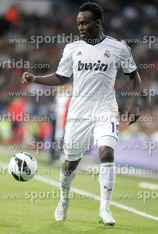 20.10.2012, Estadio Santiago Bernabeu, Madrid, ESP, Primera Division, Real Madrid vs Celta de Vigo, 8. Runde, im Bild Real Madrid's Michael Essien // during the Spanish Primera8ivision 8th round match between Real Madrid CF and Celta de Vigo at the Estadio Santiago Bernabeu, Madrid, Spain on 2012/10/20. EXPA Pictures © 2012, PhotoCredit: EXPA/ Alterphotos/ Alvaro Hernandez..***** ATTENTION - OUT OF ESP and SUI *****