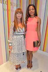 Left to right, DEBORAH LLOYD and NAOMIE HARRIS at the opening party of the new Kate Spade New York store at 182 Regent Street, London on 21st April 2016.