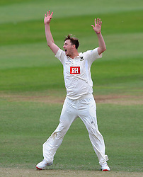 Sussex's Ollie Robinson reacts to a caught behind opportunity. - Photo mandatory by-line: Harry Trump/JMP - Mobile: 07966 386802 - 08/07/15 - SPORT - CRICKET - LVCC - County Championship Division One - Somerset v Sussex- Day Four - The County Ground, Taunton, England.