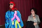 ANDRE BARTENEV; RUBY WAX, Premiere of 'The British Guide to Showing Off' Jes Benstock's documantary on Andrew Logan's life and 12 Alternative Miss World's. Prince Charles cinema, Leicester Place. London and afterward's at Moonlighting, Greek St. London. 6 November 2011. <br /> <br />  , -DO NOT ARCHIVE-© Copyright Photograph by Dafydd Jones. 248 Clapham Rd. London SW9 0PZ. Tel 0207 820 0771. www.dafjones.com.