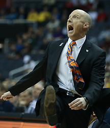 University of Illinois men's basketball Head Coach John Groce during the 2017 Big Ten Men's Basketball Conference Championship at the Verizon Center in Washington, D.C..