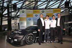 15.07.2011, Olympia Stadion, Muenchen, GER, DTM, DTM Show Event in Muenchen, im Bild Jens Marquardt / BMW Motorsport Direktor + Augusto farfus / BMW DTM Fahrer + Andy Priaulx / BMW DTM Fahrer + Dr. - Ing. Klaus Draeger - Vorstellung des BMW M3 Concept-Car für die DTM 2012 - BMW Welt Doppelkegel - // during the DTM Show ,  on 2011/07/15, Olympia Stadion, Munich, Germany, EXPA Pictures © 2011, PhotoCredit: EXPA/ nph/  Schmitt       ****** out of GER / CRO  / BEL ******