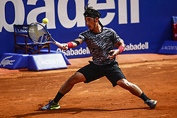 April 23, 2018 - Barcelona, Spain - BARCELONA, SPAIN - APRIL 23: Yuichi Sugita from Japan during the Barcelona Open Banc Sabadell 66º Trofeo Conde de Godo at Reial Club Tenis Barcelona on 23 of April of 2018 in Barcelona. (Credit Image: © Xavier Bonilla/NurPhoto via ZUMA Press)