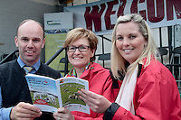 Jonathan Forbes Keypak, Mairead McGuinness MEO and Stephanie Fitzgerald Supervalu attending 'SHEEP2015', the major National Sheep Open Day hosted by Teagasc at Athenry on Saturday. Photo:- Andrew Downes / xposure.ie  No Fee. Issued on behalf of Teagas