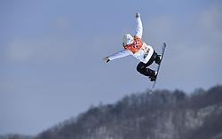 February 12, 2018 - Pyeongchang, South Korea - REIRA IWABUCHI of Japan during the Womens Snowboard Slopestyle finals at Phoenix Snow Park at the Pyeongchang Winter Olympic Games.  Photo by Mark Reis, ZUMA Press/The Gazette (Credit Image: © Mark Reis via ZUMA Wire)