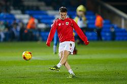 Matt Smith of Bristol City (newly signed on loan from Fulham) warms up before the match - Photo mandatory by-line: Rogan Thomson/JMP - 07966 386802 - 28/11/2014 - SPORT - FOOTBALL - Peterborough, England - ABAX Stadium - Peterborough United v Bristol City - Sky Bet League 1.