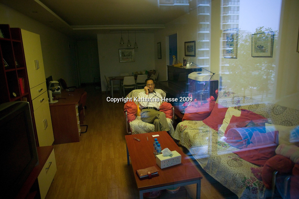 BEIJING, MAY-15, 2009: Former senior Chinese official Bao Tong , who spent seven years in prison for sympathizing with democracy advocates, in his apartment in Beijing.