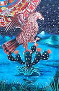 CHICAGO, NEIGHBORHOODS: Hispanic mural with symbol of Mexico