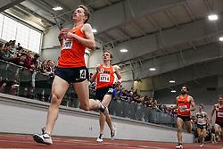 BU Terrier Indoor track meet<br /> Noah Affolder, Aidan Tooker, Philo Germano, Syracuse, 1-2-3 Mile heat