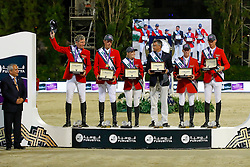 Team Germany, Beerbaum Ludger, Ahlmann Christian, Meyer Jane Friederike, Becker Otto, Ehning Markus, Deusser Daniel<br /> Furusiyya FEI Nations Cup Jumping Final - Barcelona 2016<br /> © Hippo Foto - Dirk Caremans<br /> 24/09/16