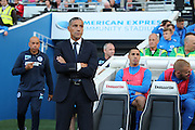 Brighton Manager, Chris Hughton during the EFL Sky Bet Championship match between Brighton and Hove Albion and Rotherham United at the American Express Community Stadium, Brighton and Hove, England on 16 August 2016.