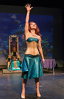 """Kelley Davies """"Marina"""" yearns to go to the surface during dress rehearsal at the Winnipesaukee Playhouse for their traditional English panto of """"The Little Mermaid"""" opening on Saturday.  (Karen Bobotas/for the Laconia Daily Sun)"""
