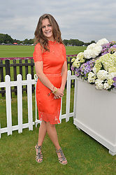 LADY JEMIMA HERBERT at the Cartier Queen's Cup Polo final at Guard's Polo Club, Smiths Lawn, Windsor Great Park, Egham, Surrey on 14th June 2015