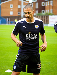 Gokhan Inler of Leicester City warms up - Mandatory byline: Matt McNulty/JMP - 07966386802 - 25/08/2015 - FOOTBALL - Gigg Lane -Bury,England - Bury v Leicester City - Capital One Cup - Second Round