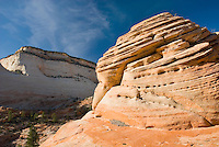 Slickrock mesas of Zion National Park Utah USA