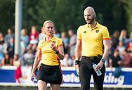 AMSTELVEEN   -  Karin Dolle en Jasper Nagtzaam. 1e wedstrijd Hurley-Almere (2-2), Hurley wint so.  play offs/ Play outs.   COPYRIGHT  KOEN SUYK