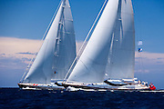 Nashira II and Ganesha sailing in the Dubois Cup regatta, day 1.