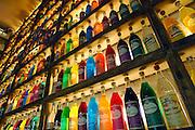 Griekenland, Athene, 5-7-2008Tientallen verschillende soorten likeur staan op de planken bij het café van producent Brettos, die dat al 100 jaat doet.A barrel with ouzo, a typical and traditional greek liquor containing 40% alcoholFoto: Flip Franssen