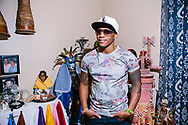 Grammy nominated cuban musician at home in New Jersey. <br /> Cover Story for Air Berlin magazine about Cuban musicians in New York and their parents, September 2016