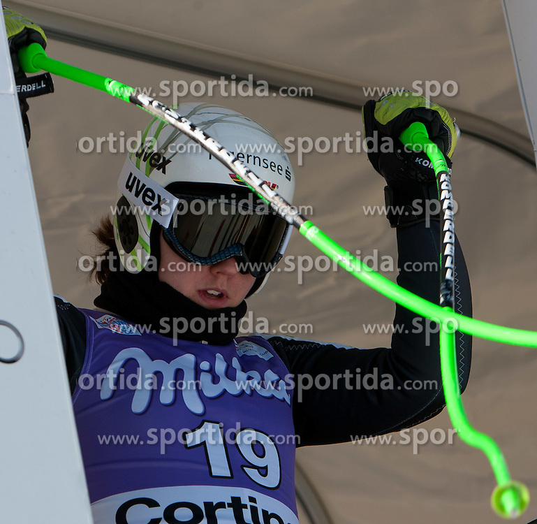 12.01.2012, Pista Olympia delle Tofane, Cortina, ITA, FIS Weltcup Ski Alpin, Damen, Abfahrt, 1. Training, im Bild Viktoria Rebensburg (GER) // Viktoria Rebensburg of Germany during ladies downhill 1st training of FIS Ski Alpine World Cup at 'Pista Olympia delle Tofane' course in Cortina, Italy on 2012/01/12. EXPA Pictures © 2012, PhotoCredit: EXPA/ Johann Groder
