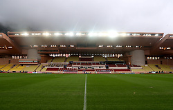 A general view of the Stade Louis II Stadium prior to the match between AS Monaco and Club Brugge