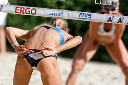 Anastasia Vasina of Russia at A1 Beach Volleyball Grand Slam presented by ERGO tournament of Swatch FIVB World Tour 2012, on July 17, 2012 in Klagenfurt, Austria. (Photo by Matic Klansek Velej / Sportida)