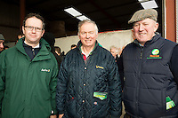 Noel Sweeney, Aurivo  and Jim Egan Claremorris, Aurivo and   Willie Donoghue who hosted   a calf care event organised by Aurivo's Farm Profitability Programme, Teagasc and Animal Health Ireland. Photo:Andrew Downes, xposure