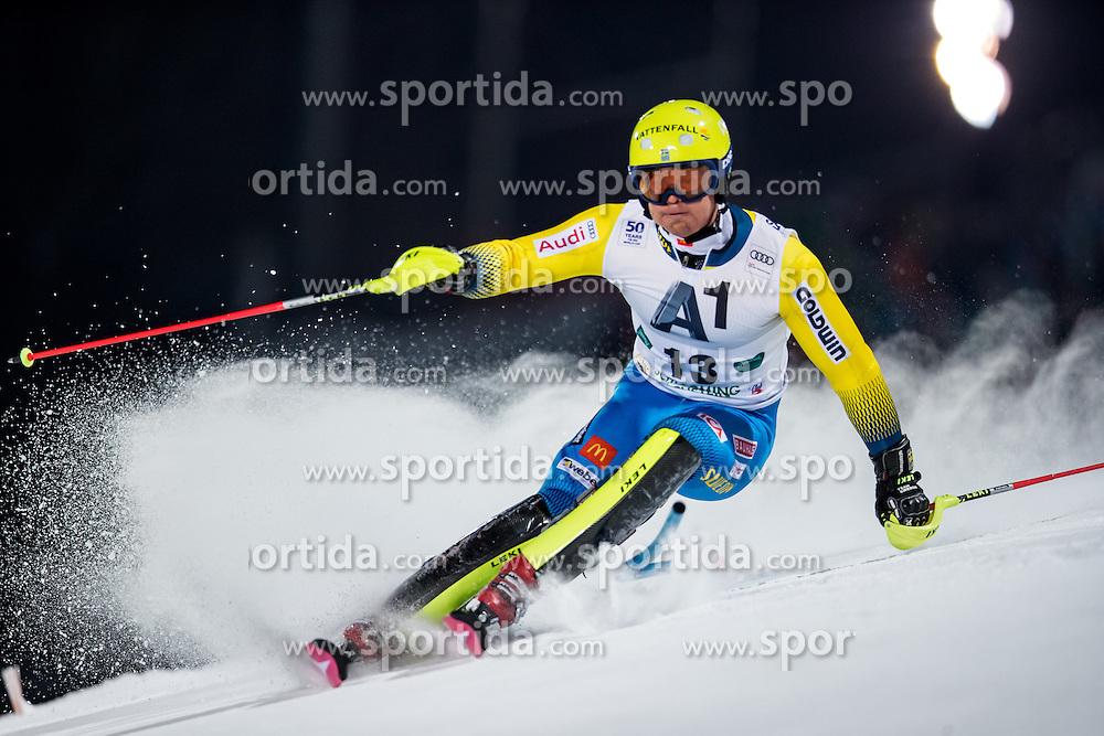 24.01.2017, Planai, Schladming, AUT, FIS Weltcup Ski Alpin, Schladming, Slalom, Herren, 1. Lauf, im Bild Mattias Hargin (SWE) // Mattias Hargin of Sweden in action during his 1st run of men's Slalom of FIS ski alpine world cup at the Planai in Schladming, Austria on 2017/01/24. EXPA Pictures © 2017, PhotoCredit: EXPA/ Johann Groder
