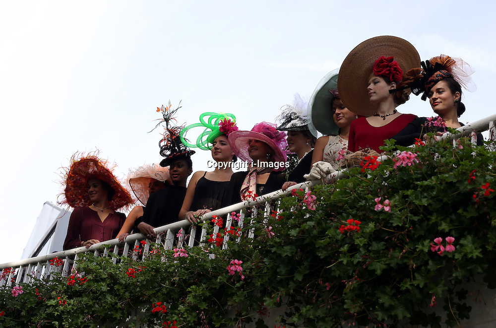 Racing fans from all over the world enjoy the sunshine ahead of the qatar Prix Del'Arc de Triomphe at Longchamp in Paris, France, October 7, 2012. Photo by i-Images.